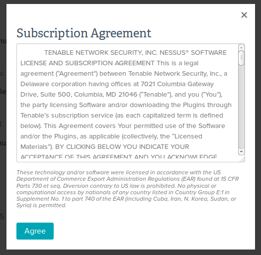 Sample subscription agreement