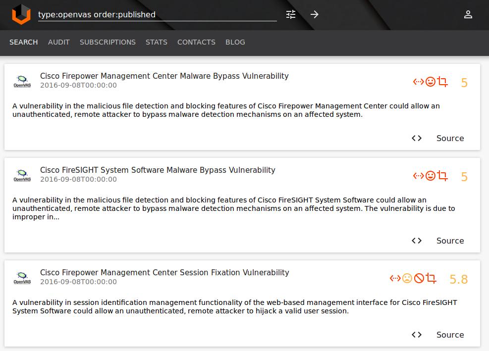 OpenVAS plugins Vulners