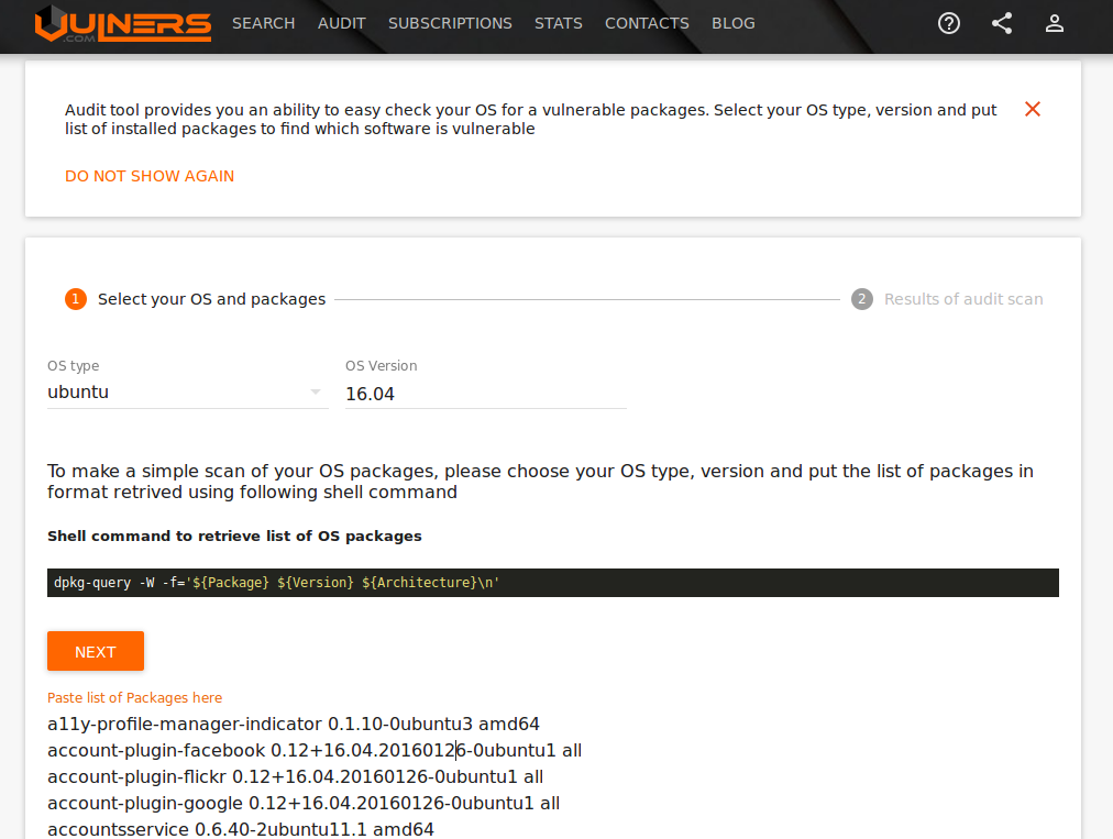 New Vulners com services for Linux Security Audit and Vulnerability