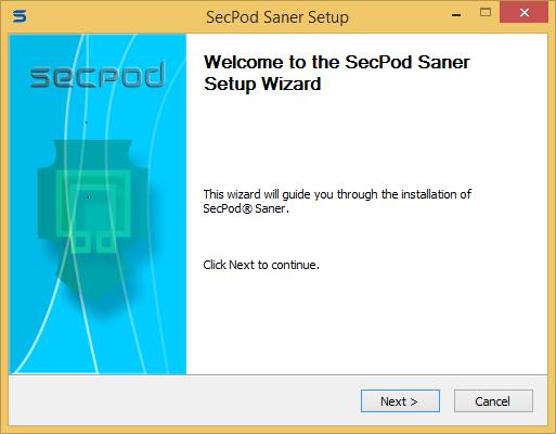 Secpod Saner Personal installation