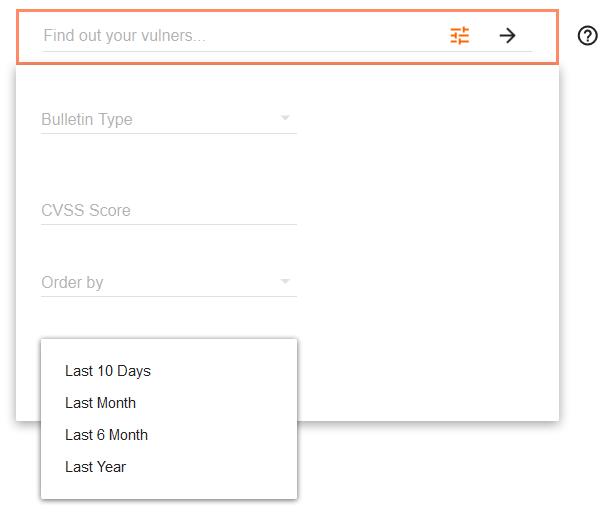 Vulners.com Date filter