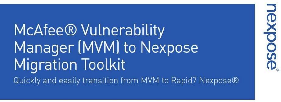 MVM to Nexpose migration