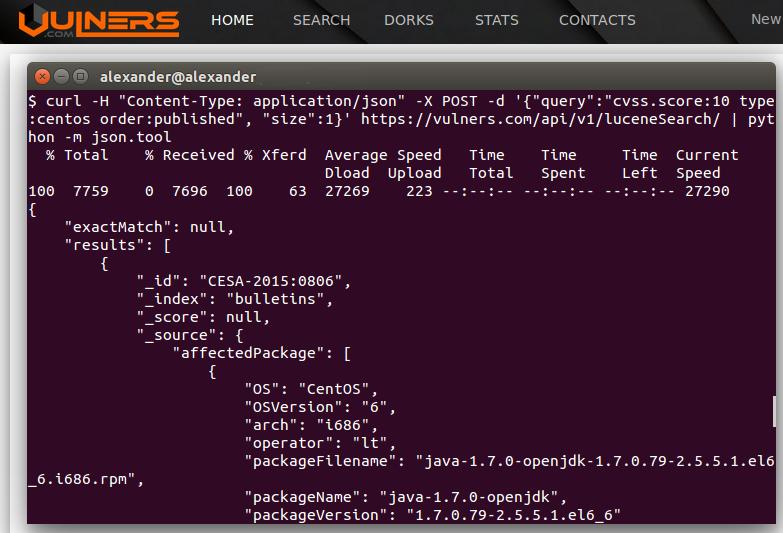Vulners Search API
