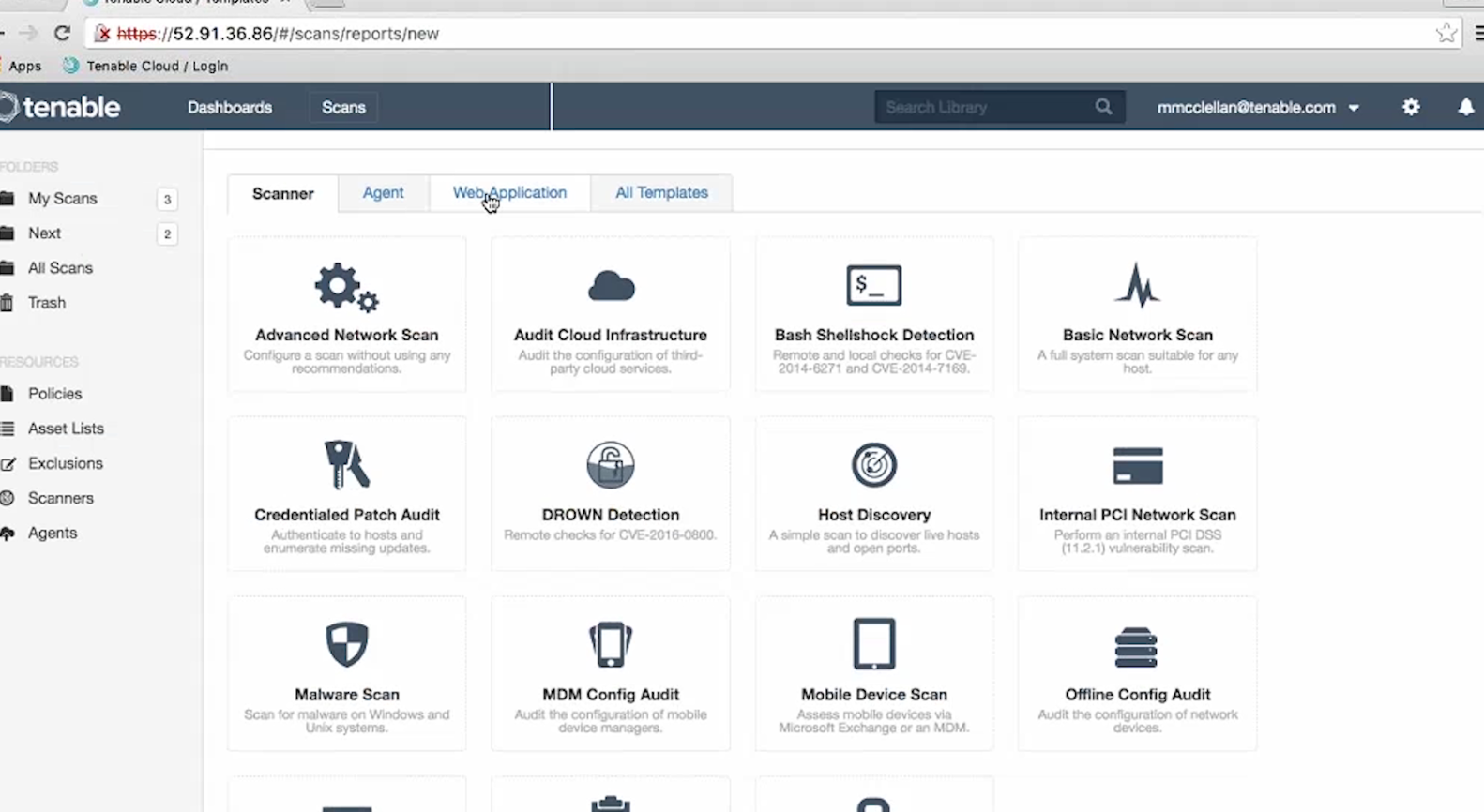 Nessus Cloud Profiles