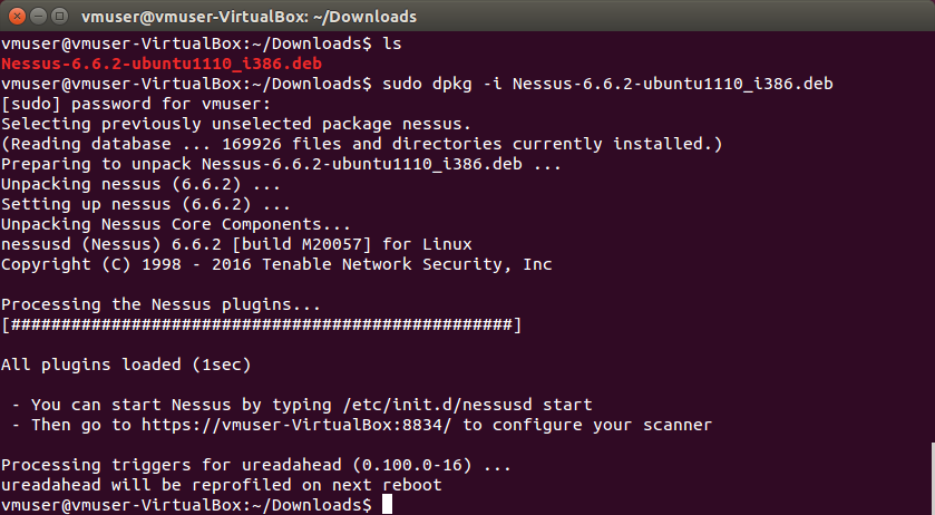Nessus Installation on Debian Linux
