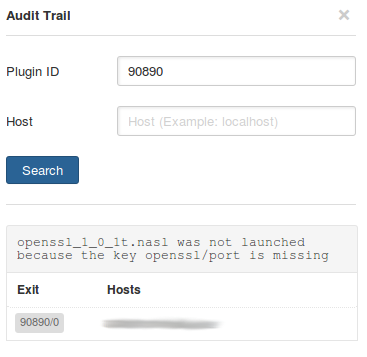 Nessus Audit Trail for CVE-2016-2107 Nessus Plugins