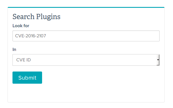 Nessus Plugin Search CVE-2016-2107