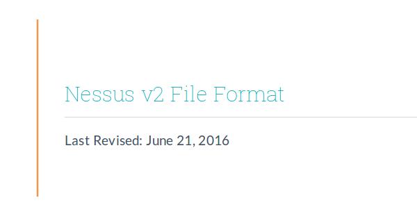nessus v2 xml format