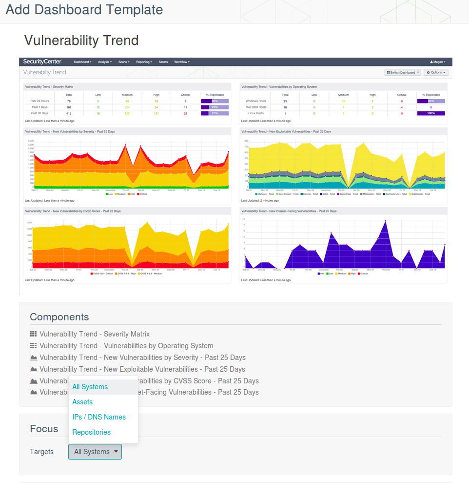 Add SecurityCenter dashboard