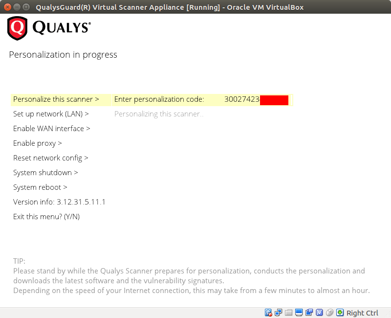 Using Qualys Virtual Scanner Appliance | Alexander V  Leonov