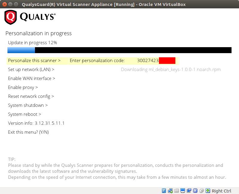 Using Qualys Virtual Scanner Appliance | Alexander V  Leonov