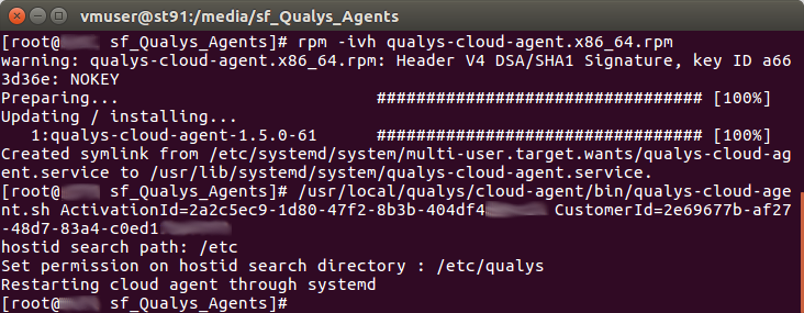 Qualys Cloud Engine CentOS install
