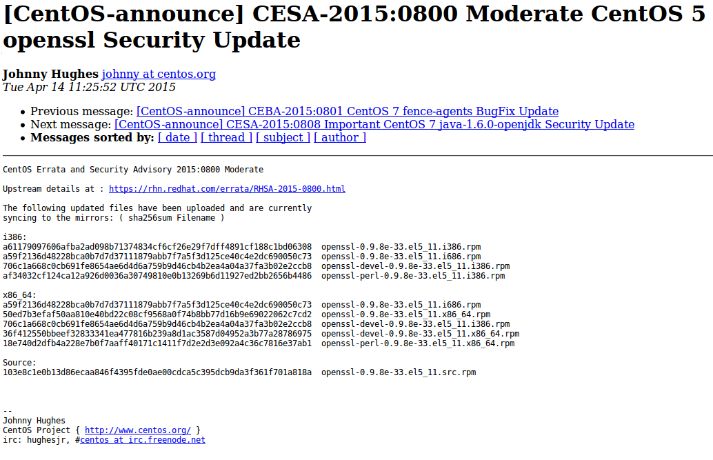 CESA bulletin example
