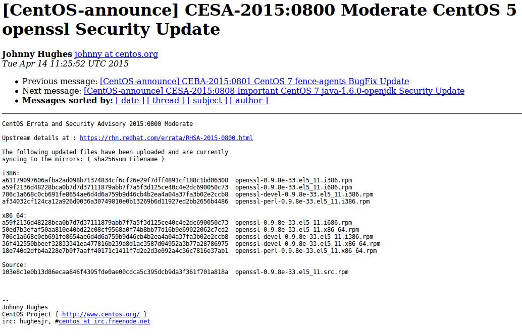 CESA bulletin example