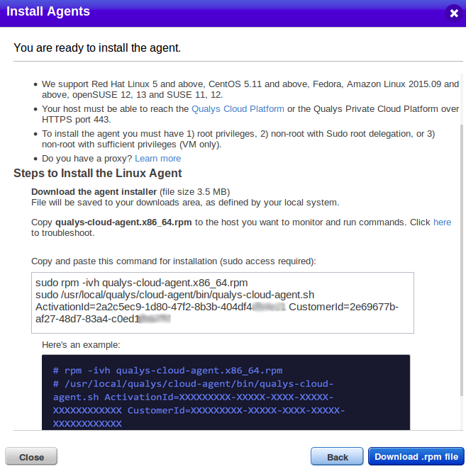 Download Linux agent