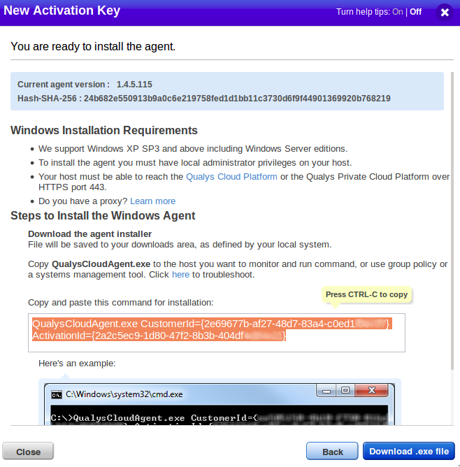 Download Windows agent
