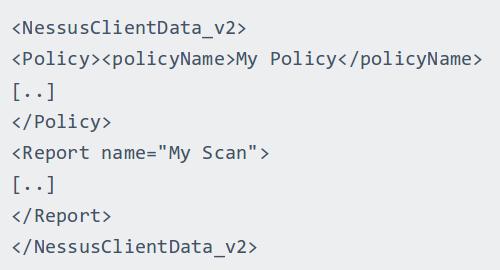 Nessus Client Data