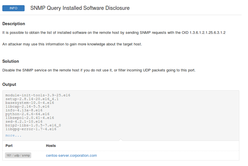 Nessus snmp software plugin