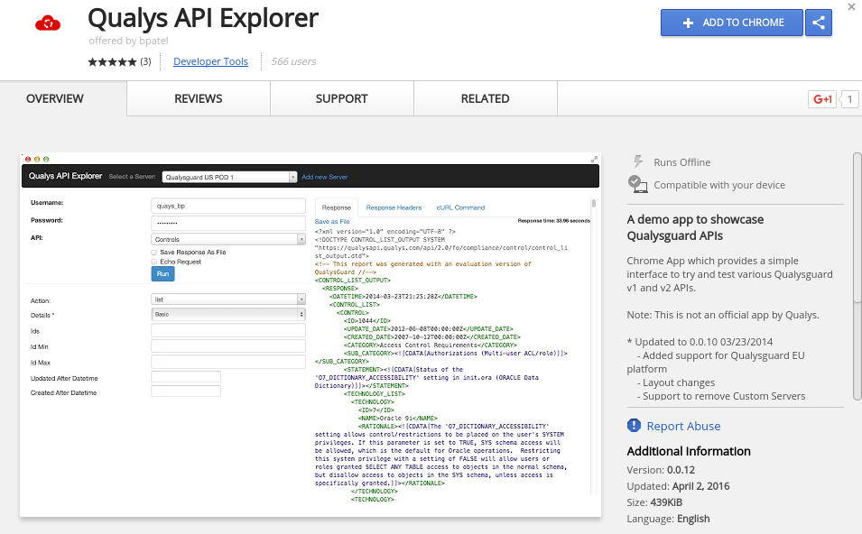 Qualys API explorer