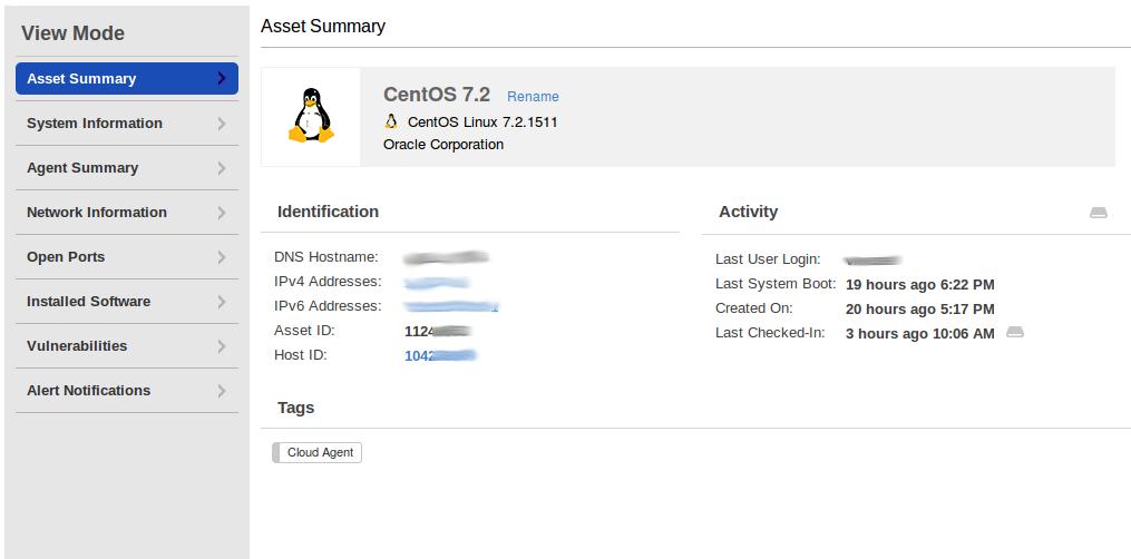 Linux Asset Summary
