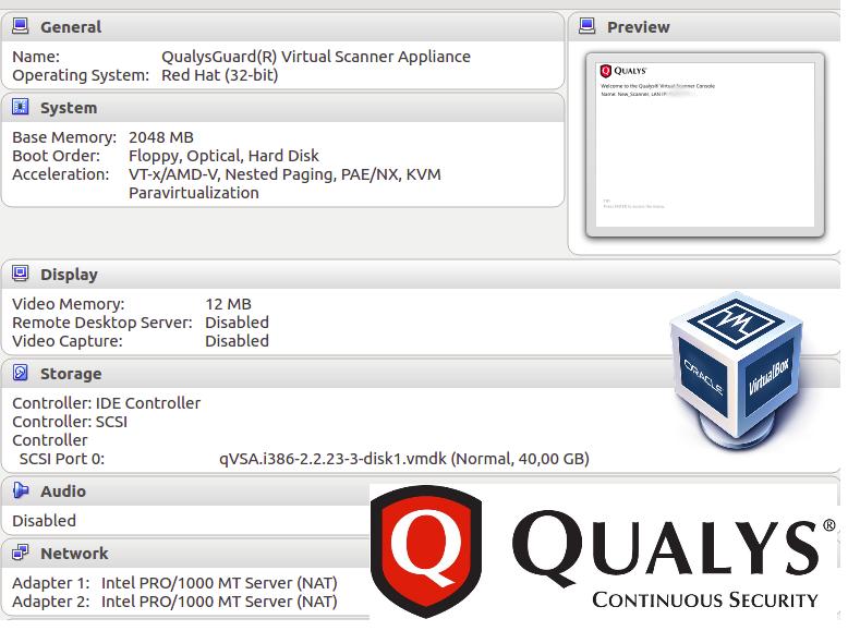 Qualys Virtual Scanner Appliance