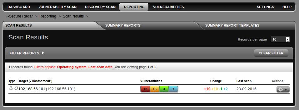 F-Secure Radar reports