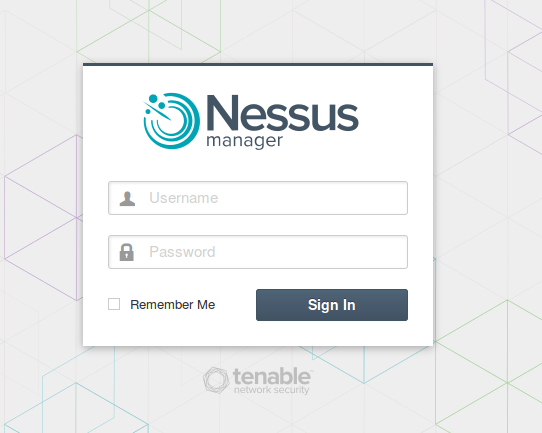 Nessus Manager Login