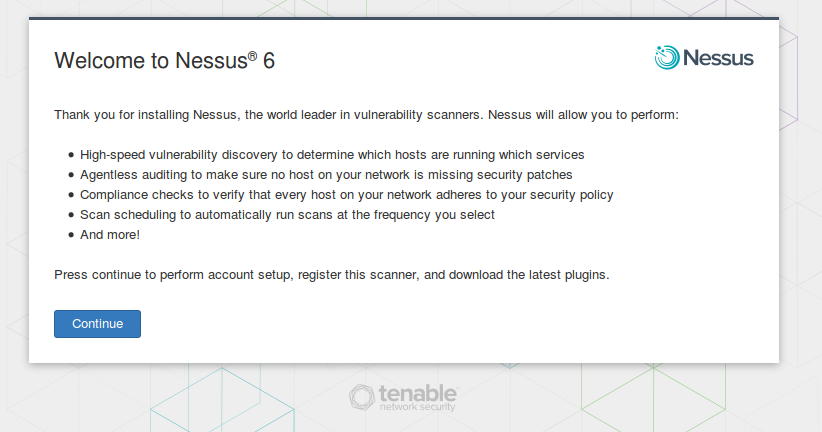 Welcome Nessus 6