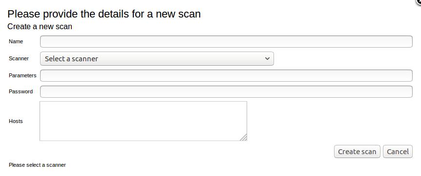 Seccubus New Scan