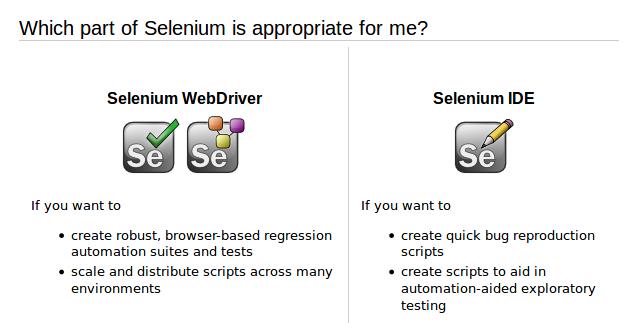 Selenium types