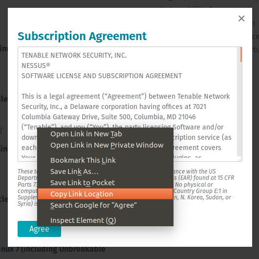 Nessus Subscription Agreement