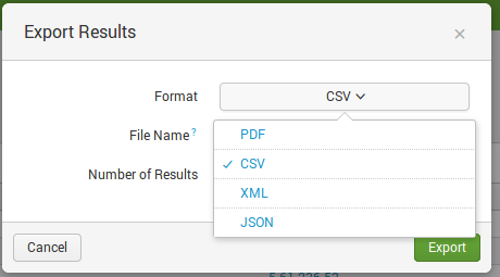 Splunk export options