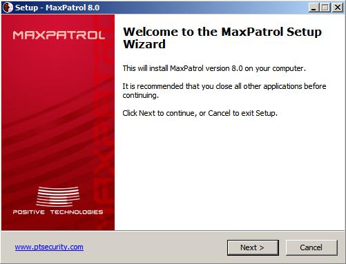 MaxPatrol8 installation