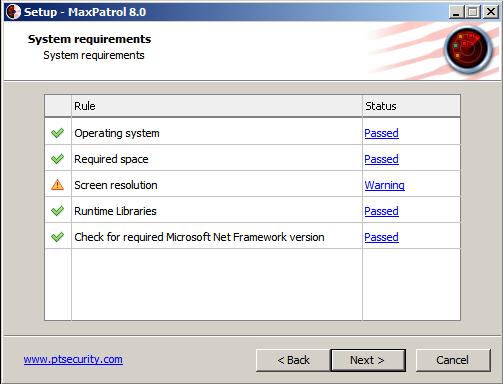 MaxPatrol8 system reqirements