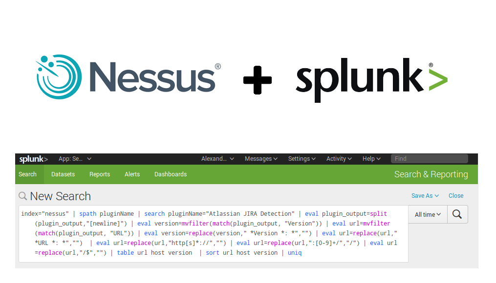 Tracking software versions using Nessus and Splunk