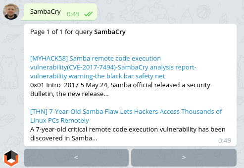 SambaCry Vulners Bot Search