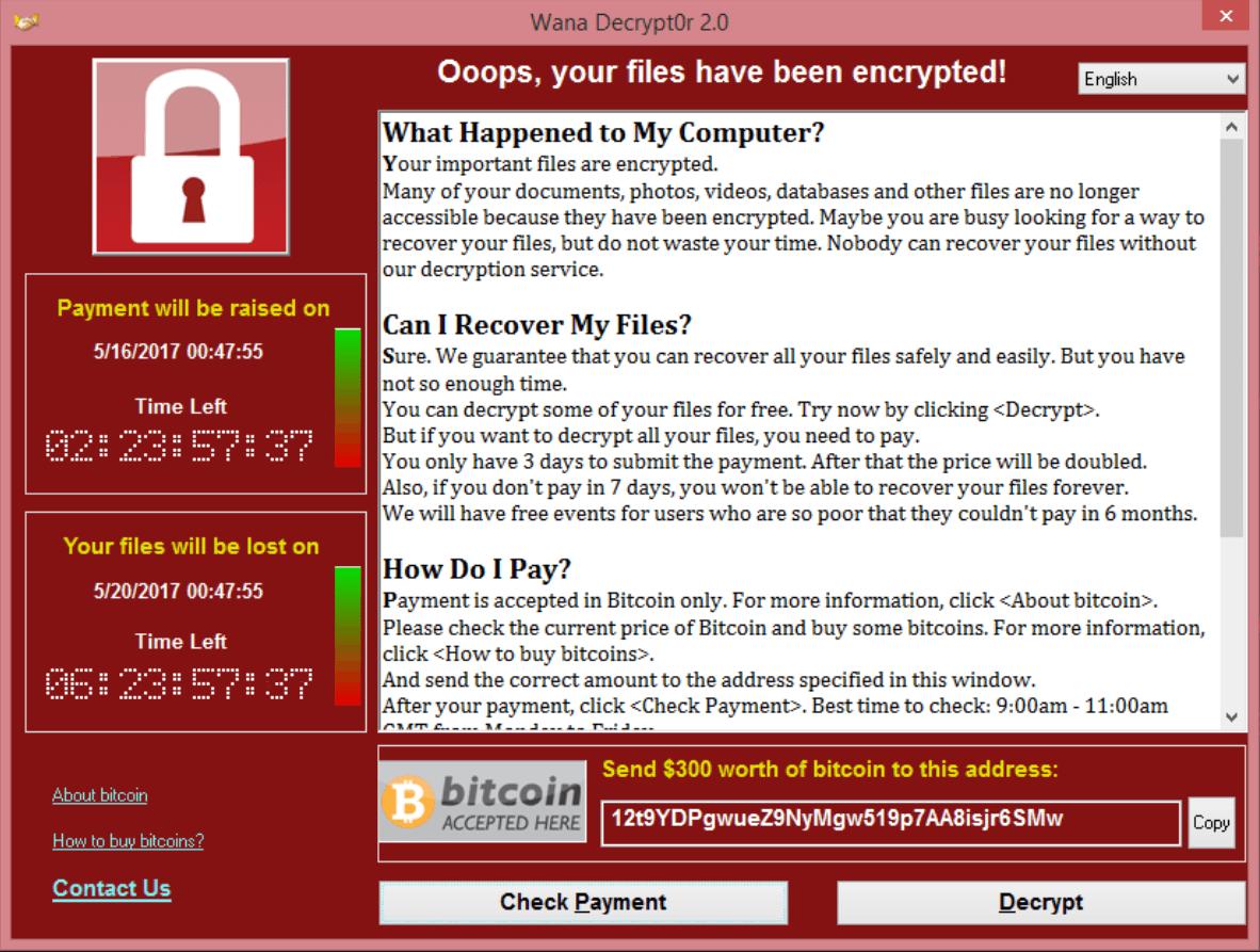 WannaCry CryptoLocker