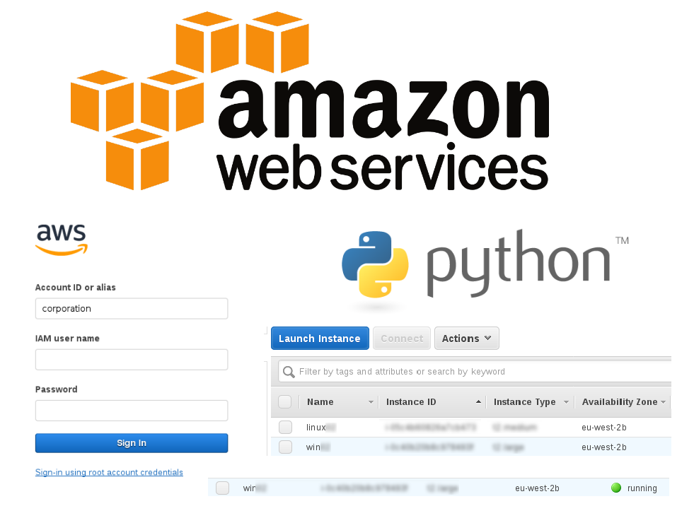 Starting/stopping Amazon EC2 instances using CLI and Python