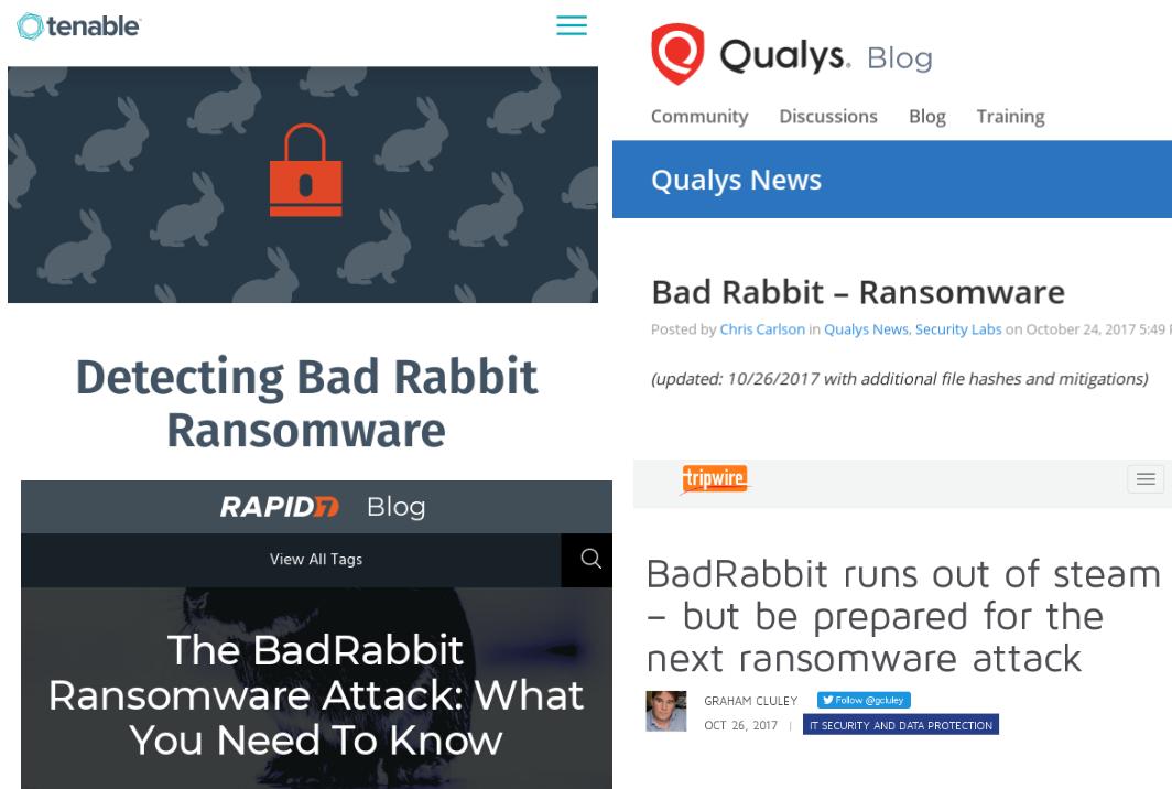 VM vendors BadRabbit