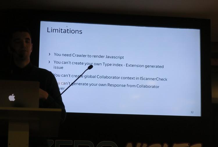 Yandex Burp Limitations