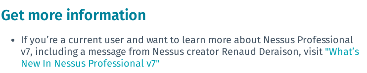 get more information Nessus7