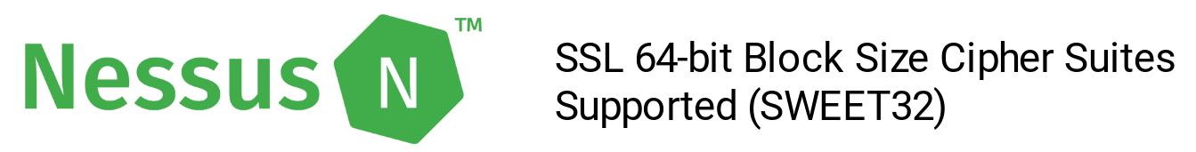 Nessus SWEET32 plugin