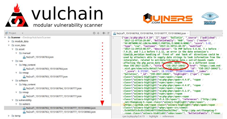 Vulchain modular scanner
