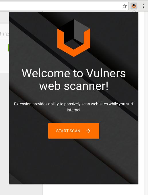 Vulners start scanning