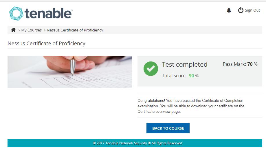 Tenable University: Nessus Certificate of Proficiency | Alexander V