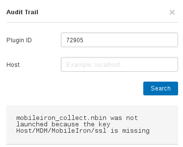 Nessus Audit Trail