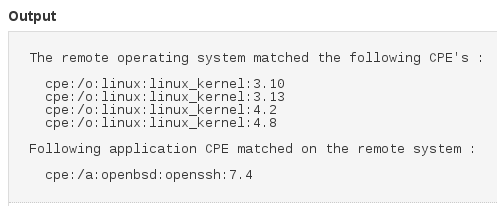 typical Linux host with ssh