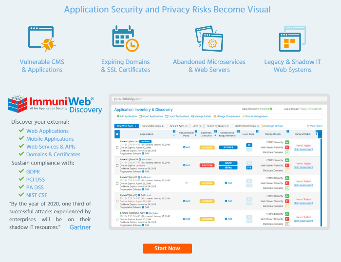 High-Tech Bridge ImmuniWeb Free Application Discovery