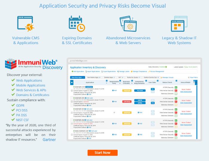 High-Tech Bridge ImmuniWeb Free Application Discovery