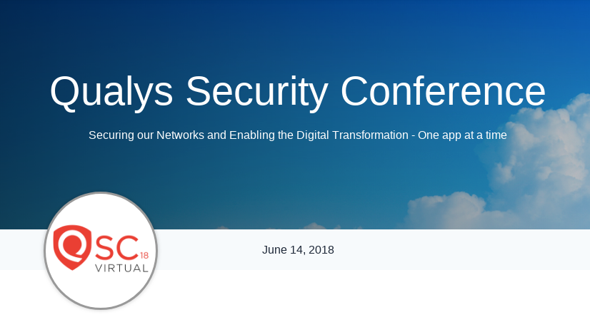 Qualys Security Conference 2018